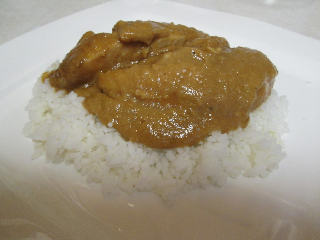 Peanut Butter Chicken Over Rice